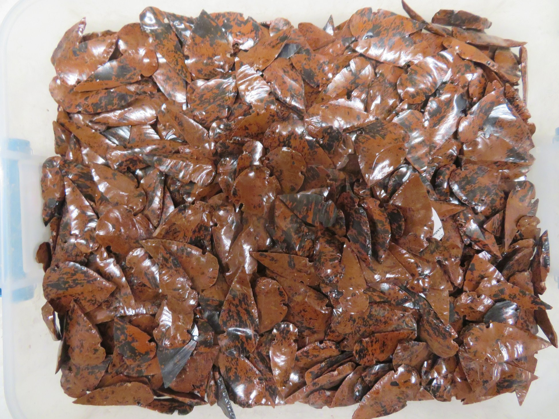 Mahogany Obsidian Arrowheads-Sold in packs of 100