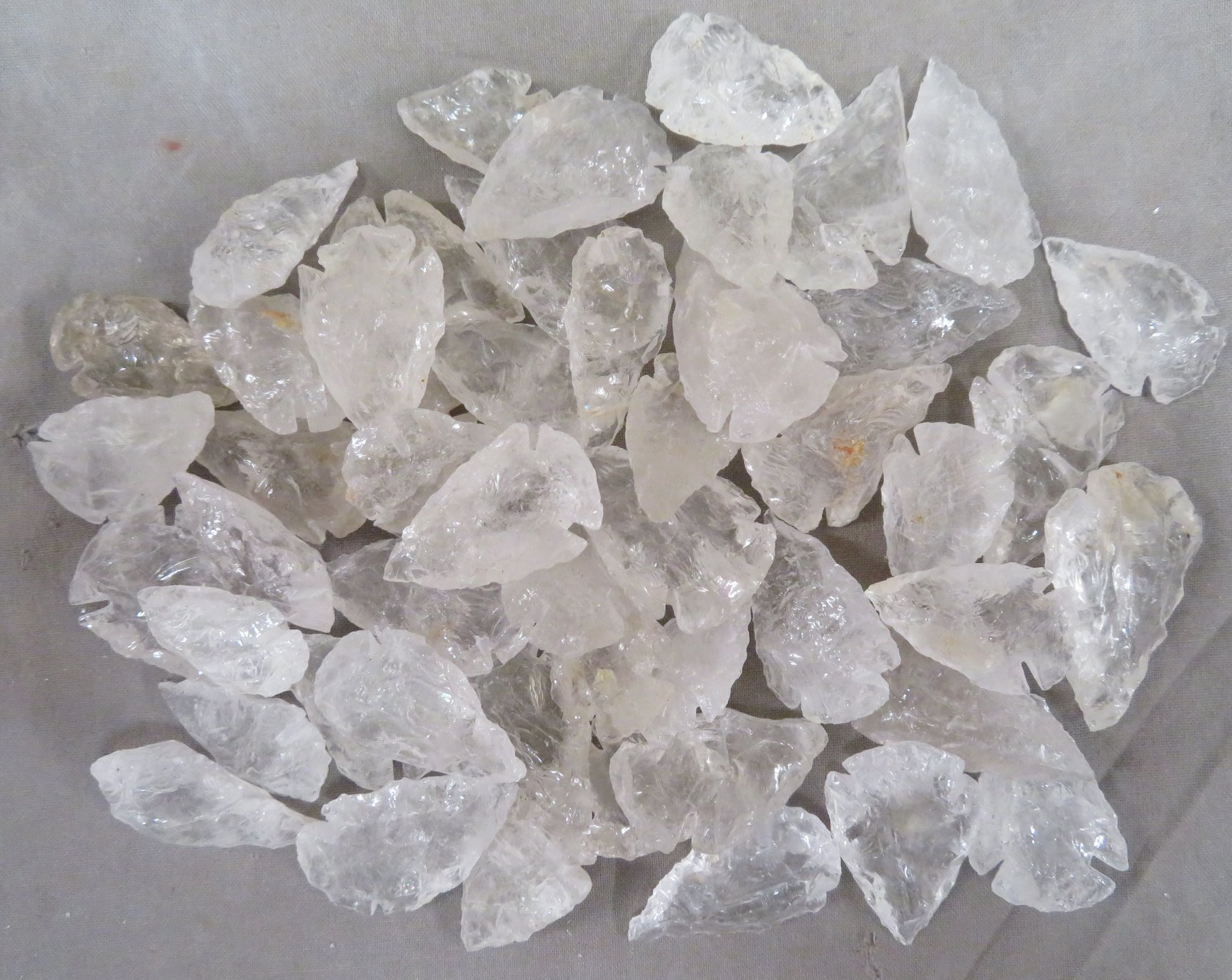 Clear Quartz Arrowheads-Sold in packs of 50
